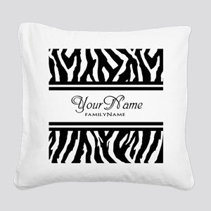Custom Animal Print Square Canvas Pillow