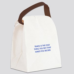 TRAVEL-OPT-BLUE Canvas Lunch Bag