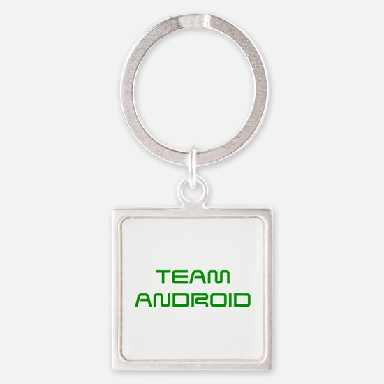 TEAM-ANDROID-SAVED-GREEN Keychains