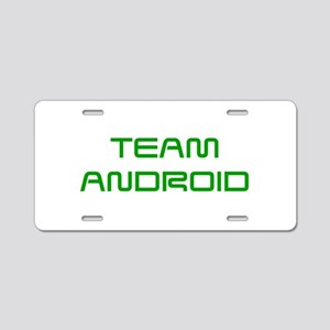 TEAM-ANDROID-SAVED-GREEN Aluminum License Plate