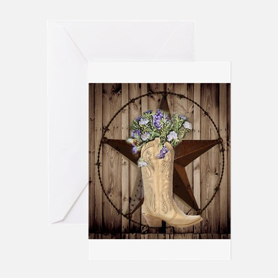 cute western cowgirl Greeting Cards