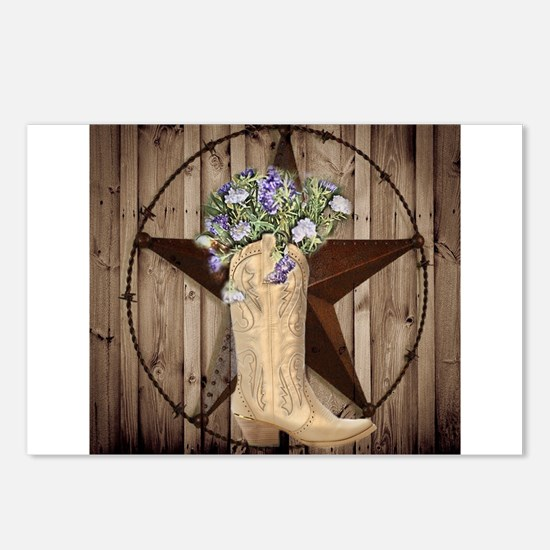 cute western cowgirl Postcards (Package of 8)