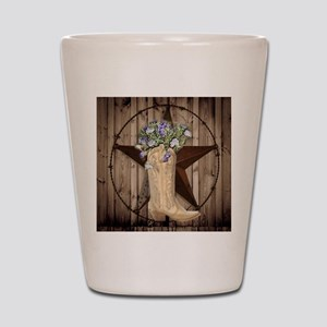 cute western cowgirl Shot Glass
