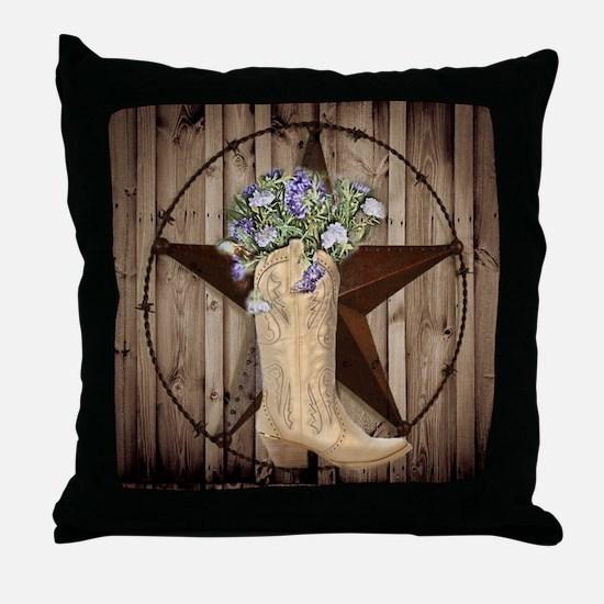 cute western cowgirl Throw Pillow