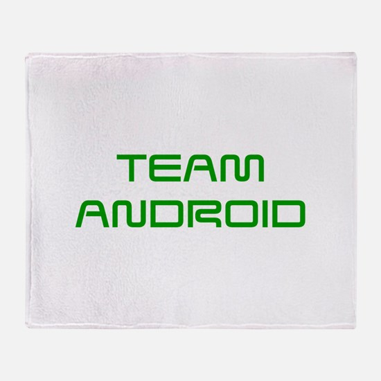 TEAM-ANDROID-SAVED-GREEN Throw Blanket