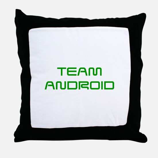 TEAM-ANDROID-SAVED-GREEN Throw Pillow