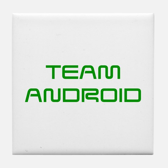 TEAM-ANDROID-SAVED-GREEN Tile Coaster