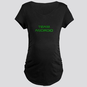 TEAM-ANDROID-SAVED-GREEN Maternity T-Shirt