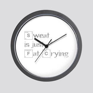 sweat-is-just-fat-crying-break-gray Wall Clock