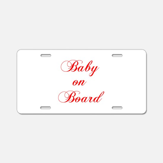 baby-on-board-scr-red Aluminum License Plate