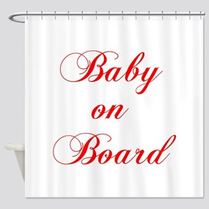 baby-on-board-scr-red Shower Curtain