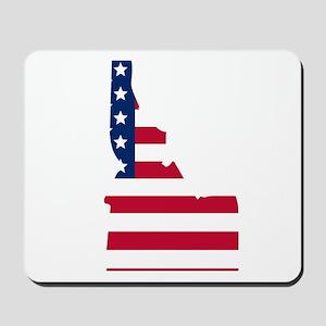 Idaho American Flag Mousepad