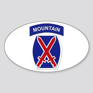 SSI - 10th Mountain Division Sticker (Oval)