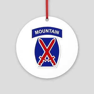 SSI - 10th Mountain Division Ornament (Round)