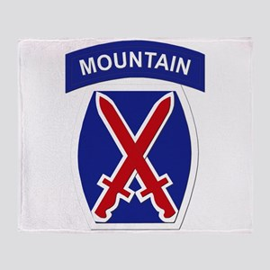 SSI - 10th Mountain Division Throw Blanket