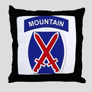 SSI - 10th Mountain Division Throw Pillow