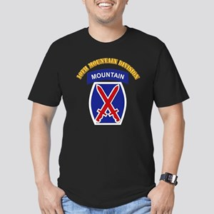 SSI - 10th Mountain Division with Text Men's Fitte