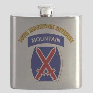 SSI - 10th Mountain Division with Text Flask