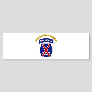 SSI - 10th Mountain Division with Text Sticker (Bu