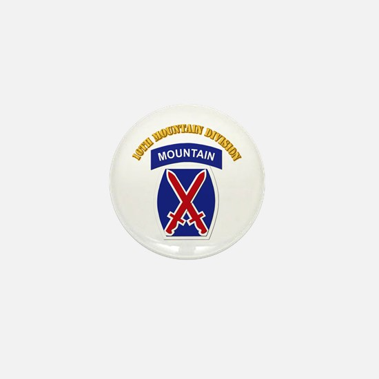 SSI - 10th Mountain Division with Text Mini Button