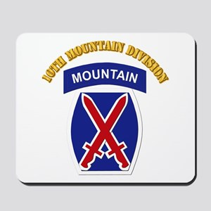 SSI - 10th Mountain Division with Text Mousepad