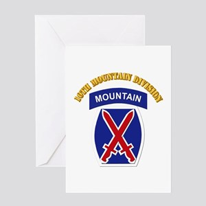 SSI - 10th Mountain Division with Text Greeting Ca