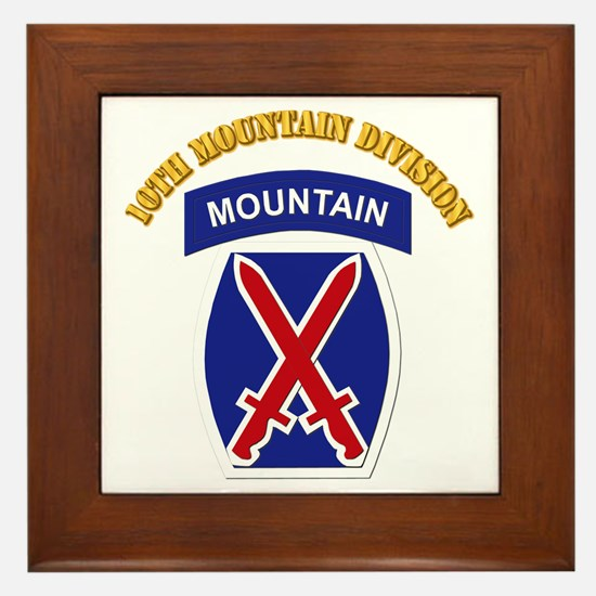 SSI - 10th Mountain Division with Text Framed Tile