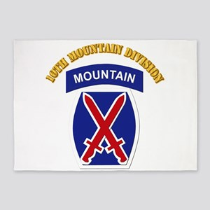 SSI - 10th Mountain Division with Text 5'x7'Area R