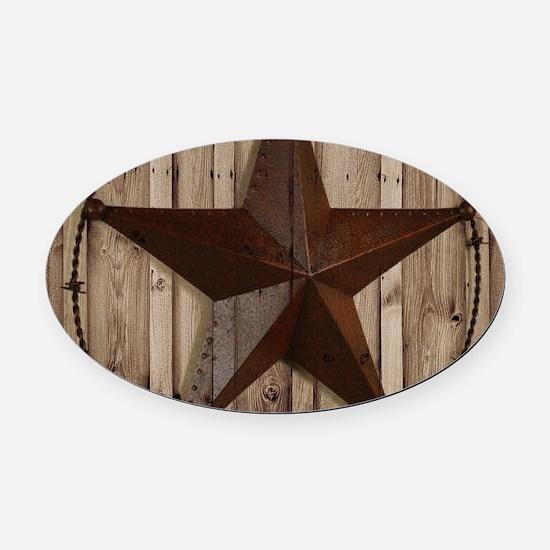 western texas star Oval Car Magnet