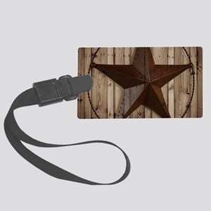 western texas star Large Luggage Tag