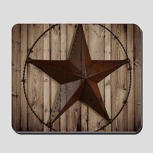 western texas star Mousepad