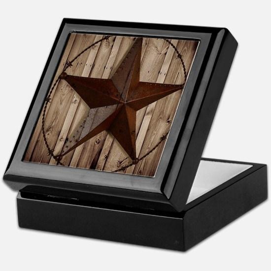 western texas star Keepsake Box