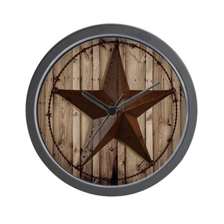 western texas star Wall Clock