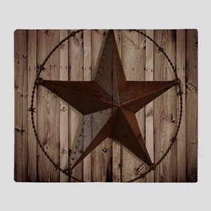 western texas star Throw Blanket