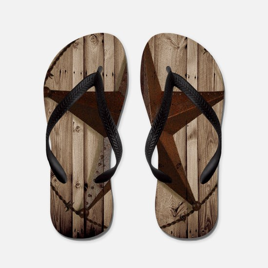 western texas star Flip Flops