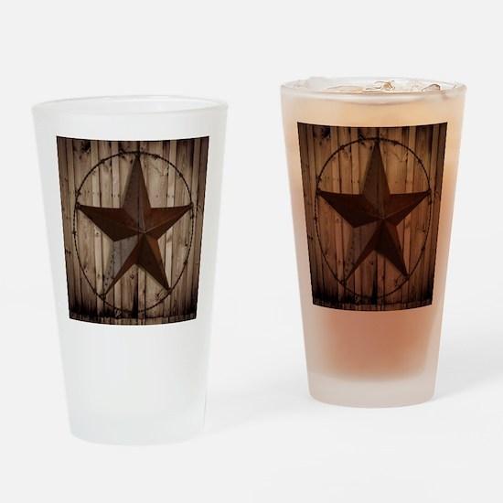 western texas star Drinking Glass