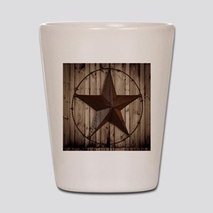 western texas star Shot Glass