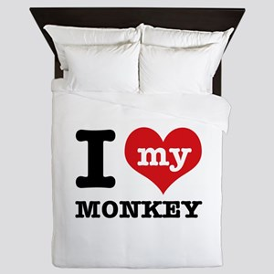 I love my MONKEY Queen Duvet