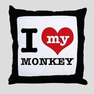 I love my MONKEY Throw Pillow