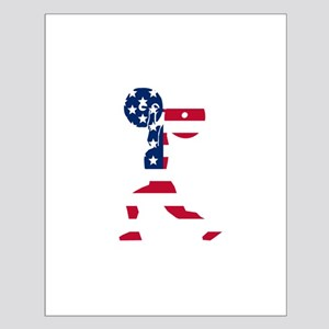 American Flag Weightlifter Posters
