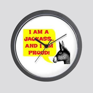 JACKASS AND PROUD Wall Clock