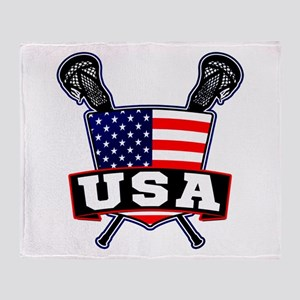 Team USA Lacrosse Logo Throw Blanket