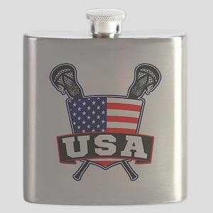 Team USA Lacrosse Logo Flask