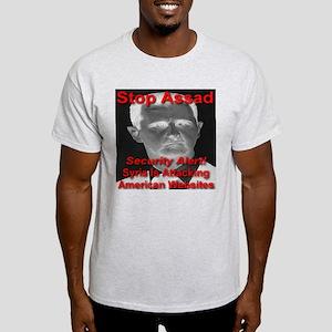 Stop Assad Security Alert! Light T-Shirt