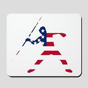 American Flag Javelin Throw Mousepad