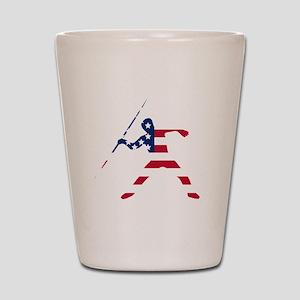 American Flag Javelin Throw Shot Glass