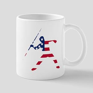 American Flag Javelin Throw Mugs