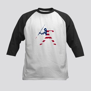 American Flag Javelin Throw Baseball Jersey