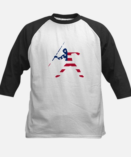 American Flag Javelin Throw Baseball Jersey