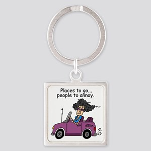 Annoying People Square Keychain